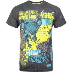 textil Herre T-shirts m. korte ærmer Marvel  Charcoal