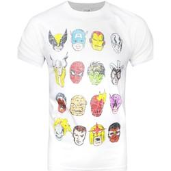 textil Herre T-shirts m. korte ærmer Marvel  White