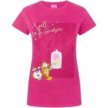 textil Dame T-shirts m. korte ærmer Beauty And The Beast  Pink