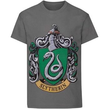 textil Dreng T-shirts m. korte ærmer Harry Potter  Charcoal