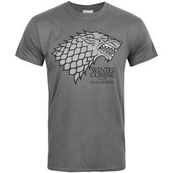 textil Herre T-shirts m. korte ærmer Game Of Thrones  Grey