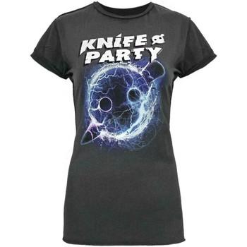 textil Dame T-shirts m. korte ærmer Amplified  Charcoal