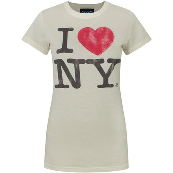 textil Dame T-shirts m. korte ærmer Junk Food  Ivory