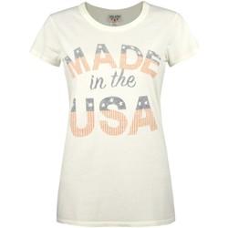 textil Dame T-shirts m. korte ærmer Junk Food  Off White