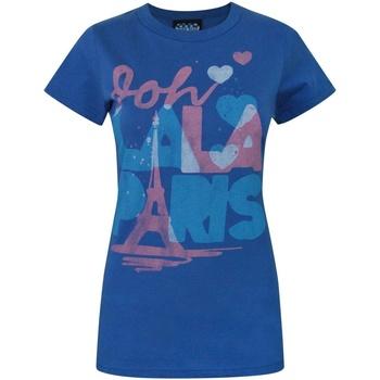 textil Dame T-shirts m. korte ærmer Junk Food  Royal Blue