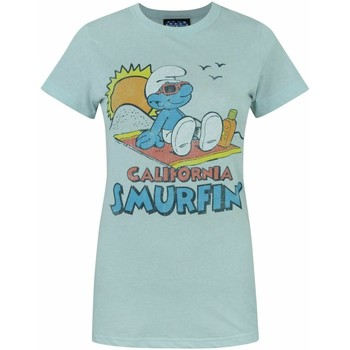 textil Dame T-shirts m. korte ærmer Junk Food  Pale Blue