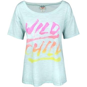 textil Dame T-shirts m. korte ærmer Junk Food  Light Blue Marl
