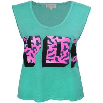 textil Dame Toppe / T-shirts uden ærmer Junk Food  Green