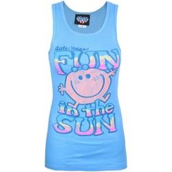 textil Dame Toppe / T-shirts uden ærmer Junk Food  Blue