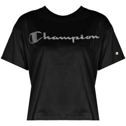 textil Dame T-shirts m. korte ærmer Champion  Sort