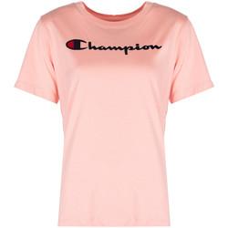 textil Dame T-shirts m. korte ærmer Champion  Pink