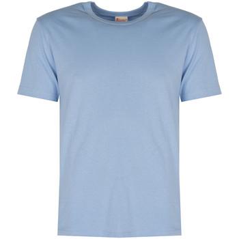 textil Herre T-shirts m. korte ærmer Champion  Blå
