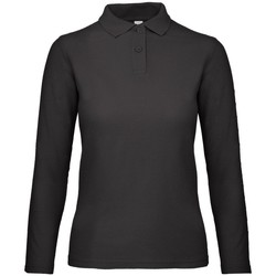 textil Dame Polo-t-shirts m. lange ærmer B And C PWI13 Jet Black