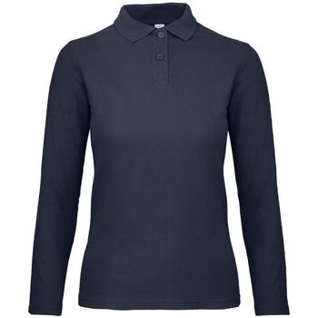 textil Dame Polo-t-shirts m. lange ærmer B And C PWI13 Ultramarine