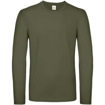 textil Herre Langærmede T-shirts B And C TU05T Urban Khaki