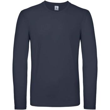 textil Herre Langærmede T-shirts B And C TU05T Navy