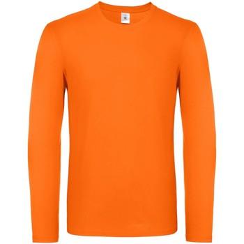 textil Herre Langærmede T-shirts B And C TU05T Orange