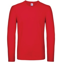 textil Herre Langærmede T-shirts B And C TU05T Red
