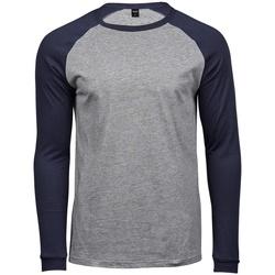 textil Herre Langærmede T-shirts Tee Jays T5072 Heather Grey/Navy