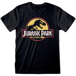 textil T-shirts m. korte ærmer Jurassic Park  Black