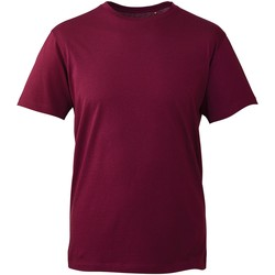 textil Herre T-shirts m. korte ærmer Anthem AM010 Burgundy
