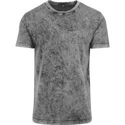 textil Herre T-shirts m. korte ærmer Build Your Brand BY070 Grey/Black