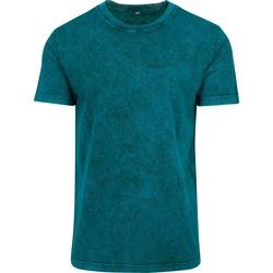 textil Herre T-shirts m. korte ærmer Build Your Brand BY070 Teal/Black