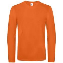 textil Herre Langærmede T-shirts B And C TU07T Urban Orange