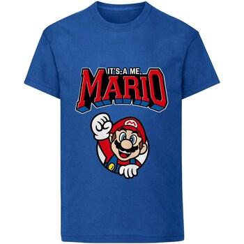textil Børn T-shirts m. korte ærmer Super Mario  Blue