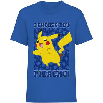 textil Børn T-shirts m. korte ærmer Pokemon  Blue