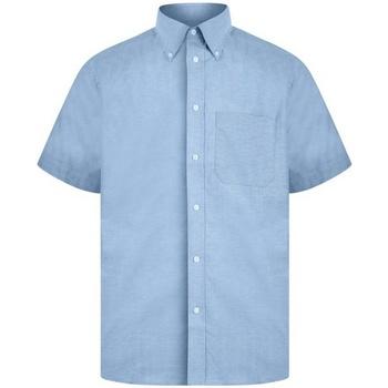 textil Herre Skjorter m. korte ærmer Absolute Apparel  Light Blue