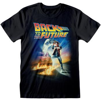textil T-shirts m. korte ærmer Back To The Future  Black