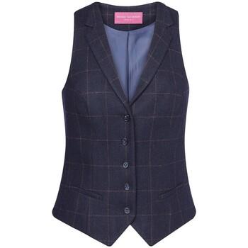 textil Dame Habit vest Brook Taverner BK521 Navy Check