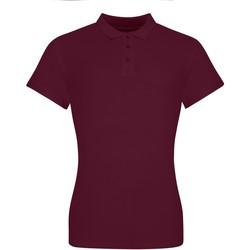 textil Dame Polo-t-shirts m. korte ærmer Awdis JP10F Burgundy
