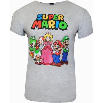 textil T-shirts m. korte ærmer Super Mario  Grey Heather