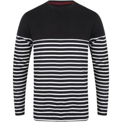 textil Herre Langærmede T-shirts Front Row FR134 Navy/White