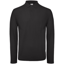 textil Herre Polo-t-shirts m. lange ærmer B And C BA290 Black