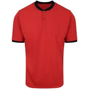 textil Herre Polo-t-shirts m. korte ærmer Awdis JC044 Fire Red/Jet Black