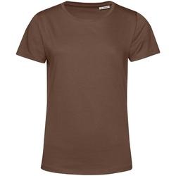 textil Dame T-shirts m. korte ærmer B&c TW02B Coffee