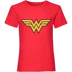 textil Dame T-shirts m. korte ærmer Dc Comics  Red