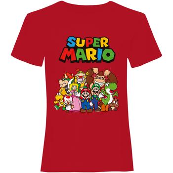 textil T-shirts m. korte ærmer Super Mario  Red