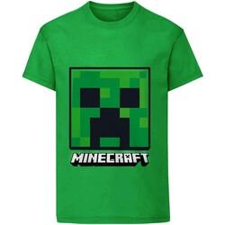 textil Børn T-shirts m. korte ærmer Minecraft  Green