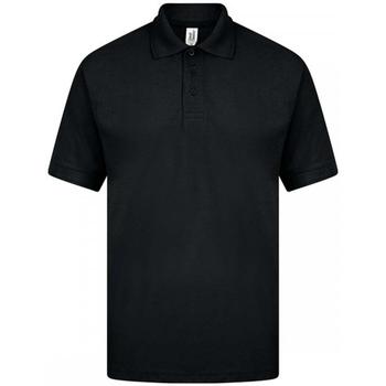 textil Herre Polo-t-shirts m. korte ærmer Casual Classics  Black
