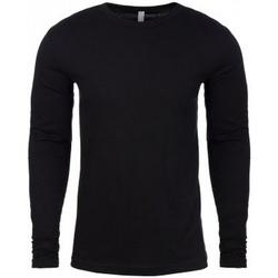 textil Herre Langærmede T-shirts Next Level NX3601 Black