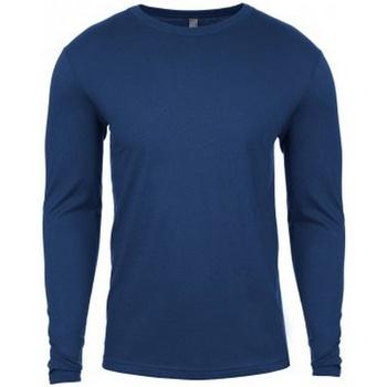 textil Herre Langærmede T-shirts Next Level NX3601 Cool Blue