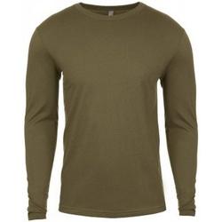 textil Herre Langærmede T-shirts Next Level NX3601 Military Green
