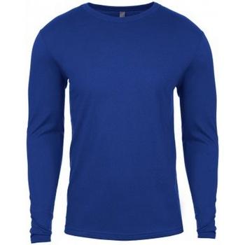 textil Herre Langærmede T-shirts Next Level NX3601 Royal Blue