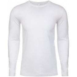 textil Herre Langærmede T-shirts Next Level NX3601 White