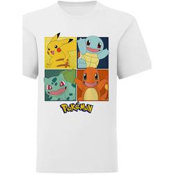 textil Børn T-shirts & poloer Pokemon  White
