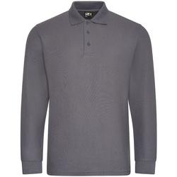 textil Herre Polo-t-shirts m. lange ærmer Pro Rtx  Solid Grey